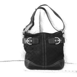 Coach Logo Black Hobo purse